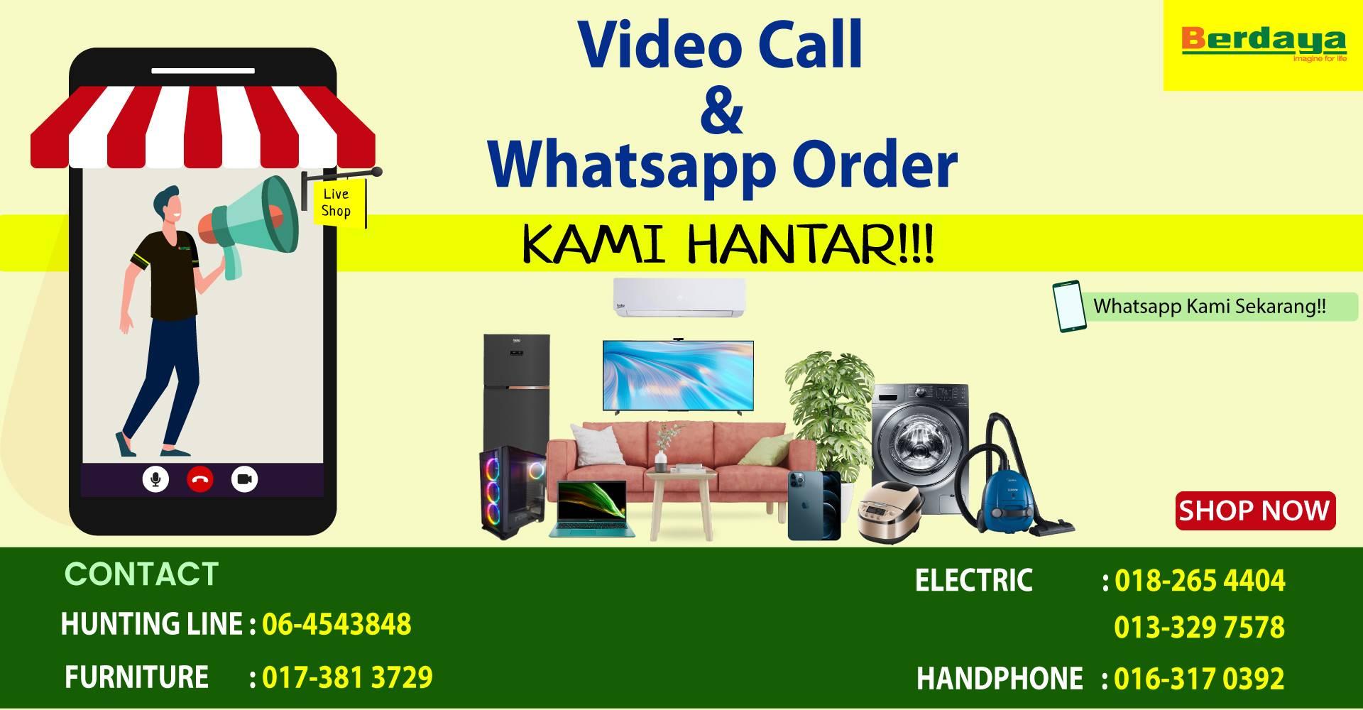Video Call & WhatsApp Order