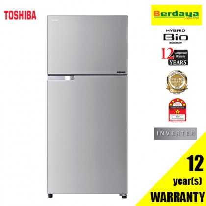 Toshiba GR-A43MBZ (RS) 430L 2-DOORS HYBRID BIO INVERTER REFRIGERATOR