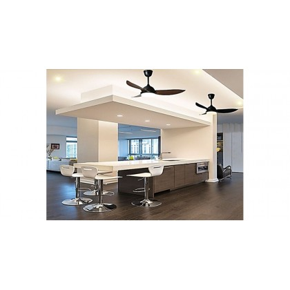 """Ecoluxe ECO-303 36"""" 3 Blades 6 Speed Led Light Ceiling Fan"""