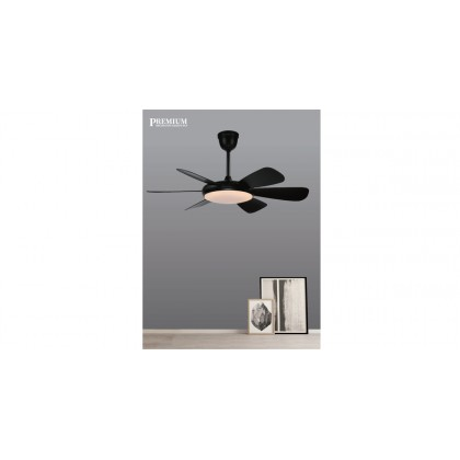 """Ecoluxe ECO-618 45"""" 6 Blades 6 Speed LED Light Ceiling Fan"""