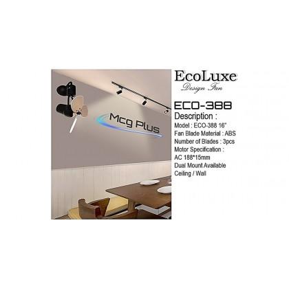 """Ecoluxe ECO-388 16"""" 3 Blades 180° Swing Ceiling / Wall Mount Fan"""
