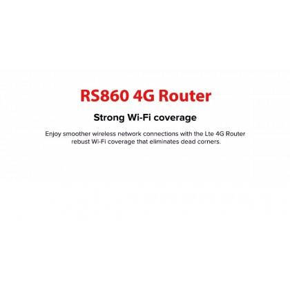 4G LTE CPE RS860 300 Mbps WIFI Unlimited Hotspot Modem Router