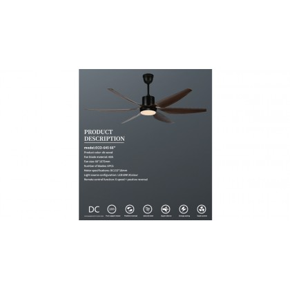 """Ecoluxe ECO-645 66"""" ABS 6 Blades 6 Speeds Ceiling Fan"""