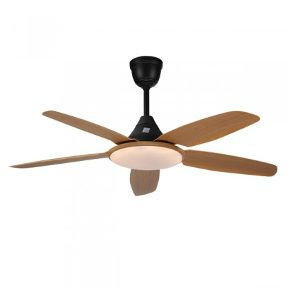 """Ecoluxe ECO-530 52"""" ABS 5 Blade 6 Speed LED Light Ceiling Fan"""