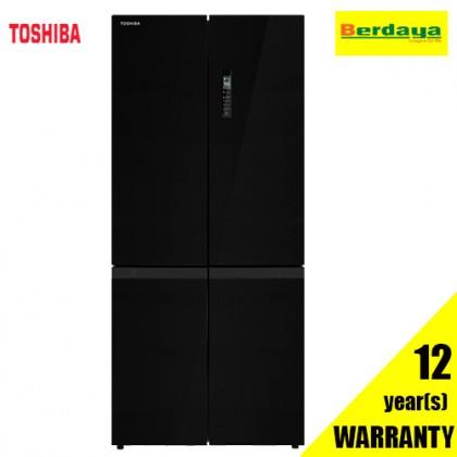 TOSHIBA GR-RF610WE-PGY(22) 511L Multi-Door Dual Inverter Refrigerator