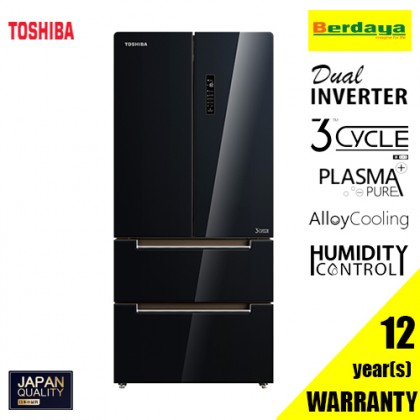 Toshiba GR-RF532WE-PGY (22) 582L FRENCH DOOR DUAL INVERTER REFRIGERATOR